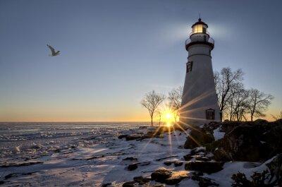 Wall mural Marblehead Lighthouse Sunrise