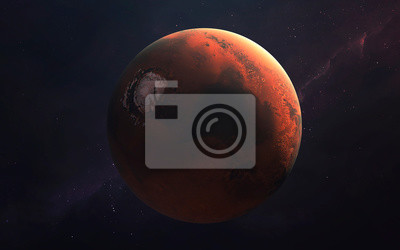 Mars exploration, Planet of the Solar system. InSight mission. Elements of this image furnished by NASA