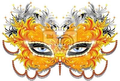 Maschera Carnevale di Piume-Feathers Carnival Mask-2-Vector