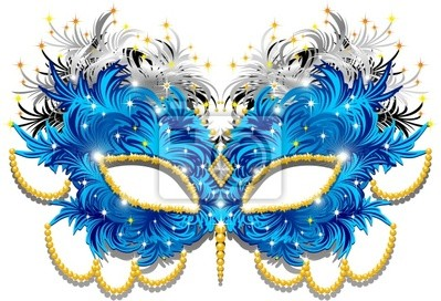 Wall mural Maschera Carnevale di Piume-Feathers Carnival Mask-3-Vector
