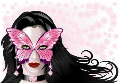 Maschera Carnevale Farfalla-Butterfly Carnival Mask-Vector