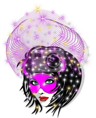 Maschera Rosa-Pink Mask-Vector