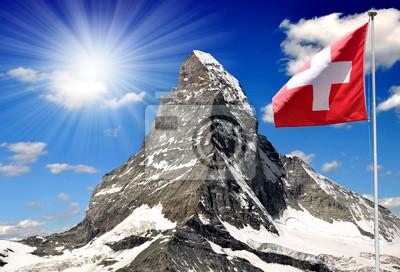 Wall mural Matterhorn - Swiss alps