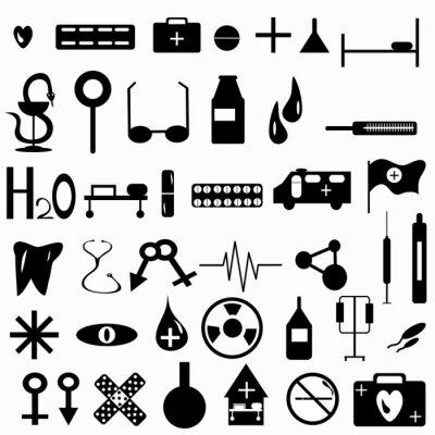 Wall mural Medicine symbols collection vector illustration