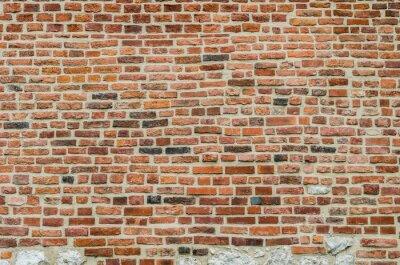 Wall mural Medieval red brick wall