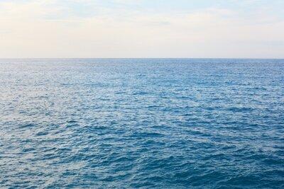 Wall mural Mediterranean blue, calm sea with horizon in the morning
