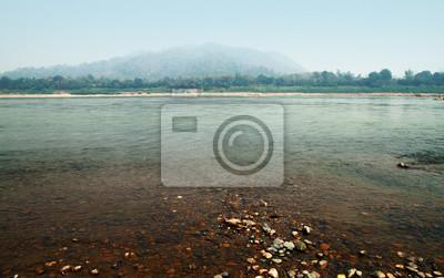 Mekong river in the Kaeng Kood Koo of Chiangkhan,Loei,Thailand