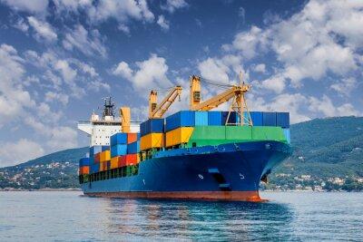 Wall mural merchant container ship