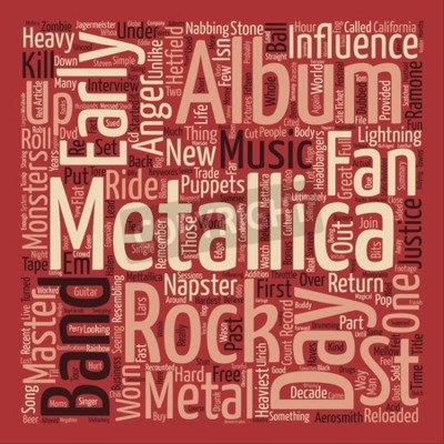 Wall mural Metallica St Anger text background word cloud concept