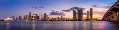 Wall mural Miami city skyline panorama at twilight