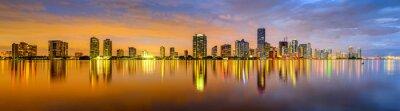 Wall mural Miami, Florida Biscayne Bay Skyline Panorama