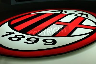 Wall mural Milan, Italy, September 20, 2010 - AC Milan logo.