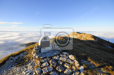 Military memorial on the top of a mountain