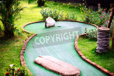 Wall mural Mini golf club decorated in thai style