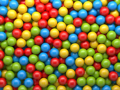 Wall mural mixed color balls background