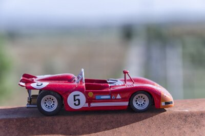 Wall mural Model of a old racing car in the sun