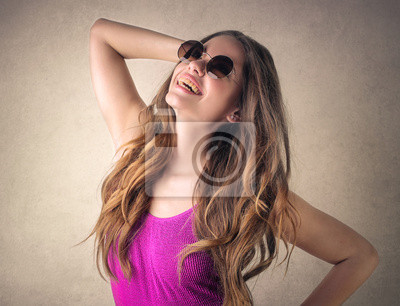 Model posing for a picture