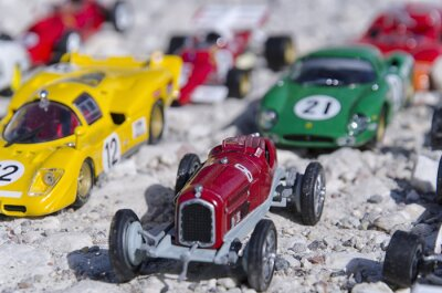 Wall mural Models of a classic cars in the sun