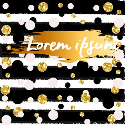 Wall mural Modern Chic Gold Background Vector Design