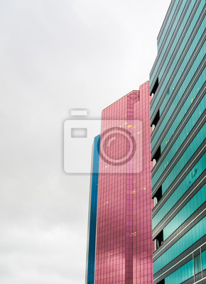 Modern colorful buildings