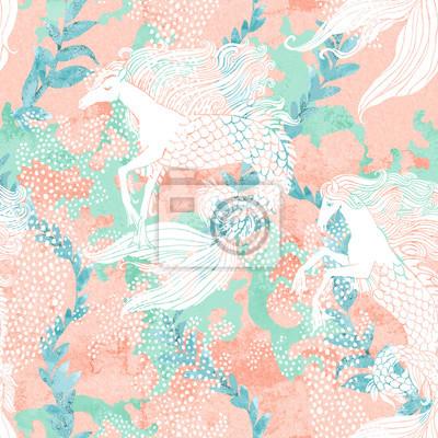Wall mural Modern digital illustration in cute magic fairy tale style