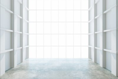 Wall mural Modern empty room with big window