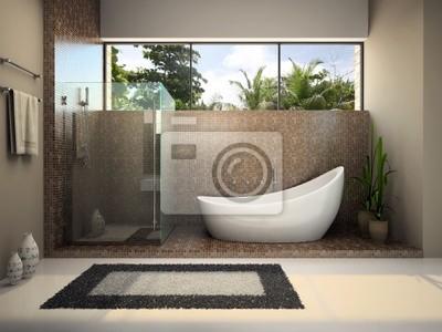 Modern interior of the bathroom