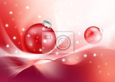 modern red Christmas decoration
