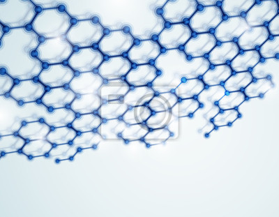 Wall mural Molecular background
