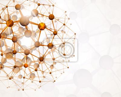 Wall mural Molecular structure