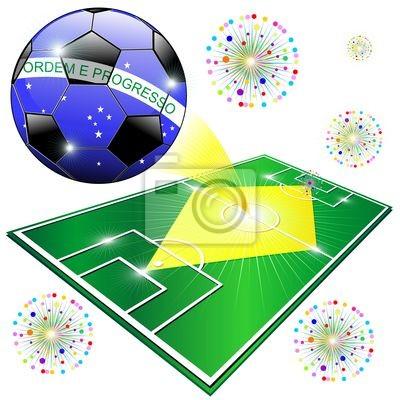 Mondiali Calcio Brasile 2014 Brazil Flag World Championship