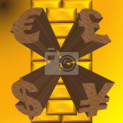 monetary gold surface