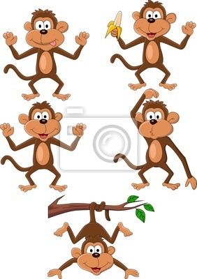 Wall mural Monkey cartoon