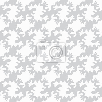 Wall mural monochrome objects on a white background a seamless pattern a vector illustration