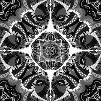 monochrome seamless pattern. Vintage decorative elements.