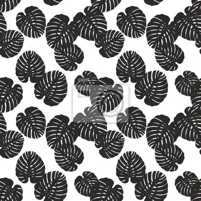 Wall mural Monstera floral pattern