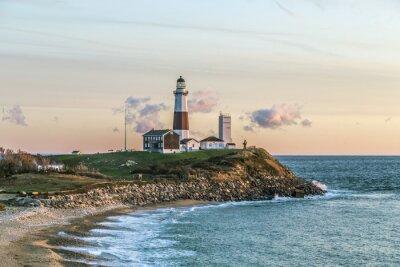 Wall mural Montauk Point Light, Lighthouse, Long Island, New York, Suffolk