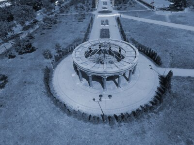 Monument and memorial park in memory of Chernobyl Disaster. Kiev ,Ukraine