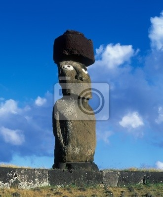 Monument on famous Easter island