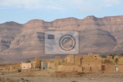 Moroccan village in the alto atlas