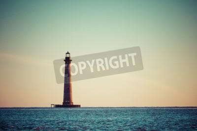 Wall mural Morris Island Lighthouse at sunrise, South Carolina, USA