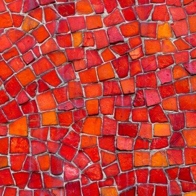 Wall mural Mosaik rot
