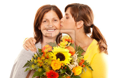 mother and daughter on mother's day