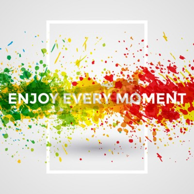 Wall mural Motivation bright Paint Splashes vector Watercolor Poster