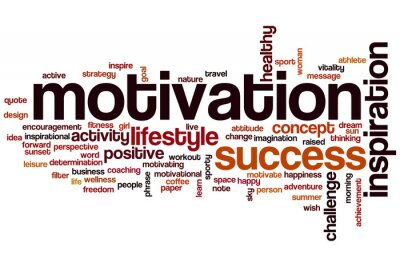 Wall mural Motivation word cloud concept