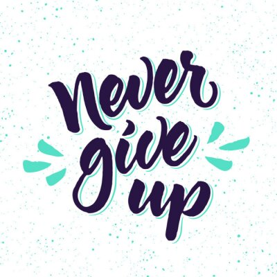Wall mural Motivational quote Never give up