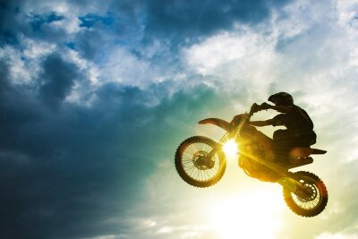 Wall mural Motocross Bike Jump