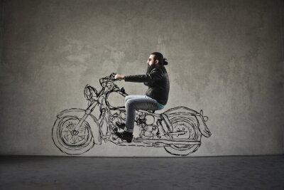 Wall mural Motorbike