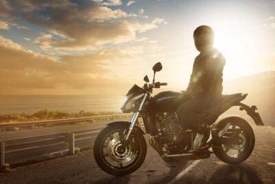 Wall mural Motorbike on an Ocean Road
