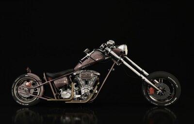Wall mural motorcycle model